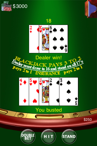 Screenshot Black Jack 21 Poker Card Game